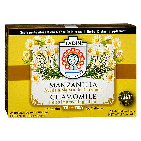 Tadin Chamomile Herbal Dietary Supplement Tea Bags 24 pk