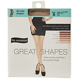 No Nonsense Great Shapes All-Over Shaper Sheer Toe Body Shaping Pantyhose Size B