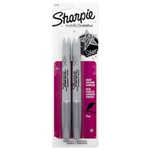 Silver Fine Point Permanent Markers, Silver Metallic, Fine