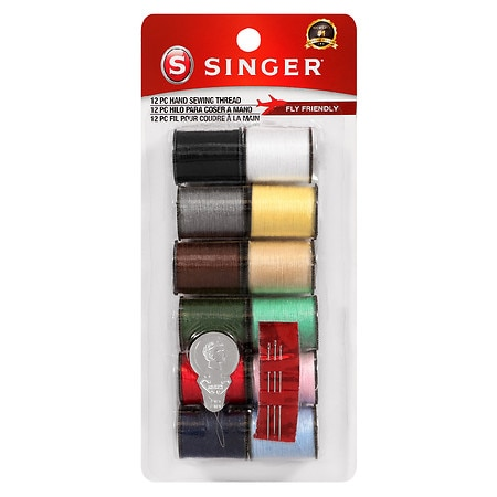 Singer Polyester Hand Sewing Thread Spools 12 pk