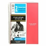 Mead Five Star 2 Subject College Ruled Notebook