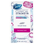 Secret Clinical Strength Mean Stinks Advanced Solid Antiperspirant & Deodorant Fearlessly Fresh