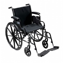 Drive Medical Cruiser lll Wheelchair 20 inch with Flip Back Desk Arms Swing Footrest