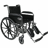 Everest & Jennings Travelers SE Steel Wheelchair with Removable Arms and Elevating Legrest Hammer Tone, 18 Inch Seat Width