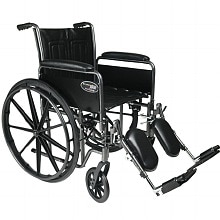 Everest & Jennings Travelers SE Steel Wheelchair with Removable Arms and Elevating Legrest