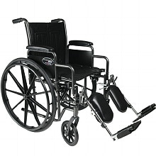 Everest & Jennings Travelers SE Steel Wheelchair with Removable Arms and Elevating Legrest 18 Inch