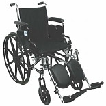 Nova Lightweight Wheelchair with Flip-Back Desk Arms and Elevating Leg Rests 20 inch seat width
