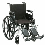 Nova Lightweight Wheelchair with Removable Desk Arms and Elevating Leg Rests 18 inch seat width