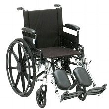 Lightweight Wheelchair with Removable Desk Arms and Elevating Leg Rests, 18 inch seat width
