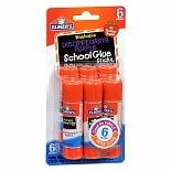 Elmer's School Glue Sticks 6 Pack Disappearing Purple