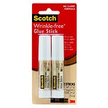 3M Scotch Glue Stick 2 Pack Wrinkle-Free