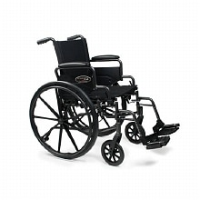 Traveler Lightweight Wheelchair with Flip Back Desk Arm & Swing Footrests, 18-inch seat width