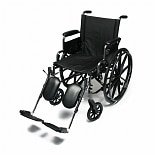 Everest & Jennings Traveler Lightweight Wheelchair with Flip Back Desk Arm & Elevate Leg Rests 18-inch seat width