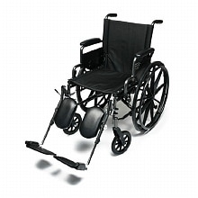 Everest & Jennings Traveler Lightweight Wheelchair with Flip Back Desk Arm & Elevate Leg Rests