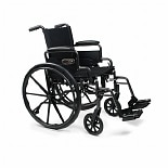 Everest & Jennings Traveler Lightweight Wheelchair with Flip Back Arm and Swing Footrests 16-inch seat width