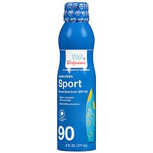 Walgreens Sport Continuous Spray Sunscreen, SPF 90
