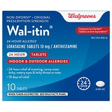 Walgreens Wal-Itin 24 Hour Allergy Tablets