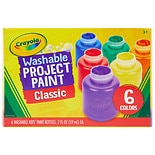 Crayola Washable Kids' Paint 6 Pack Assorted Colors