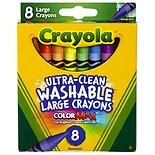 Crayola Washable Crayons Large Assorted Colors