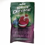 Halls Defense Sugar Free Supplement Drops Pomegranate Berry