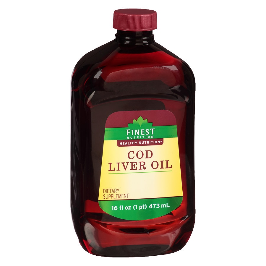 Finest nutrition cod liver oil dietary supplement walgreens for Is cod liver oil the same as fish oil
