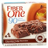 Fiber One 90 Calorie Brownies 6 Pack Chocolate Fudge