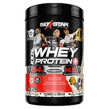 Six Star Whey Protein Plus, Elite Series Cookies & Cream