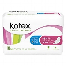 Kotex Ultra Thin Pads with Wings, Medium Protection