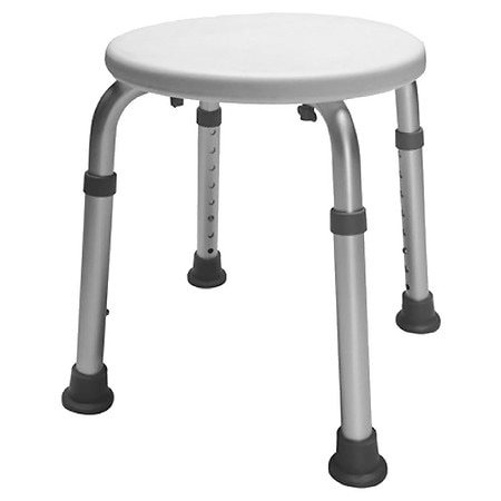 Essential Medical Bath Safety Height Adjustable Round Bath Stool