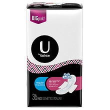 Kotex Natural Balance Natural Balance Ultra Thin Pads with Wings Regular Unscented Regular, 36 ea