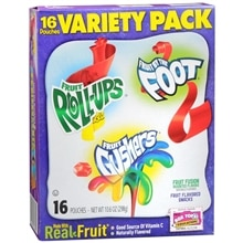 Betty Crocker Fruit Flavored Snacks 16 Pack Assorted