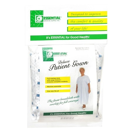 Essential Medical Deluxe Patient Gown White