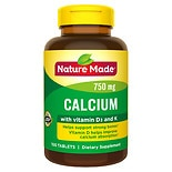 Nature Made Calcium 750 mg + D + K Dietary Supplement Tablets 49