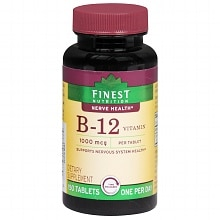Finest Nutrition B-12 Vitamin 1000 mcg Dietary Supplement Tablets Time Released