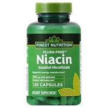 Finest Nutrition Niacin 500 mg Dietary Supplement Capsules