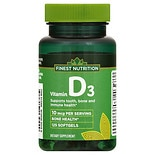 Finest Nutrition D3 Vitamin 400 IU Dietary Supplement Softgels