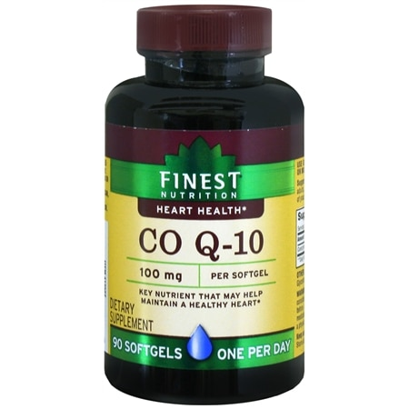 Finest Nutrition Co Q-10 100 mg Dietary Supplement Softgels