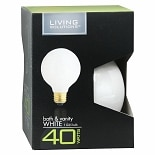 Living Solutions Light Bulb White 40 Watt Bath & Vanity G25