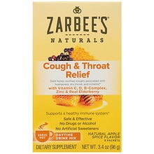ZarBee's Naturals Cough & Throat Relief Daytime Drink Packets Apple Spice