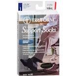 Men's Moderate Dress-Style Support Socks Size XL XLBlack