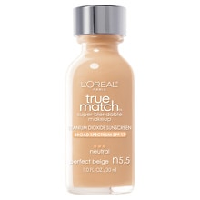 L'Oreal Paris True Match Super-Blendable Makeup, SPF 17 Perfect Beige