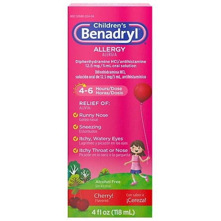 Benadryl Children's Allergy Liquid Cherry