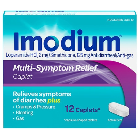 Imodium Multi-Symptom Relief Antidiarrheal/Anti-Gas Caplets