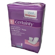 Walgreens Certainty Body Curve Pads Regular Length