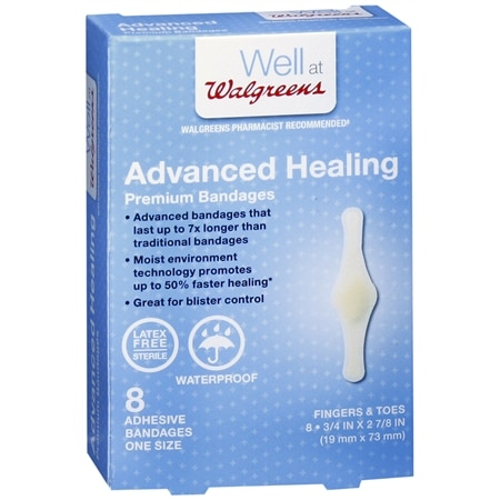Walgreens Advanced Healing Premium Adhesive Bandages Fingers & Toes
