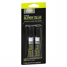 Living Solutions Super Glue Liquid 2 Pack