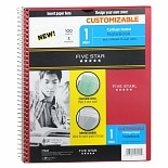 Mead Five Star 1 Subject Spiral Notebook College Ruled Assorted Colors