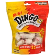 Dingo Rawhide Chews with Meat 22 Pack Meat