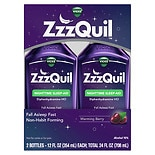 ZzzQuil Nighttime Sleep-Aid Liquid 2 Pack Warming Berry Flavor
