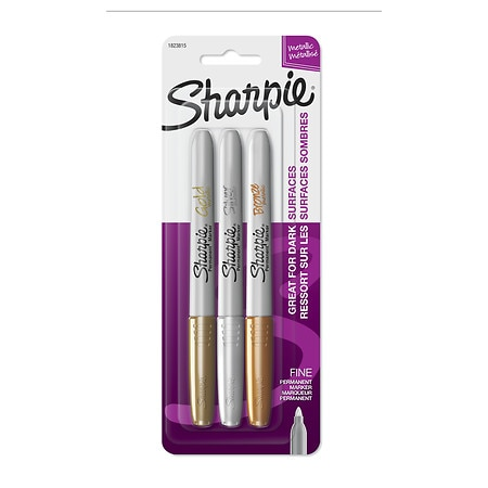 Sharpie Metallic Permanent Markers Fine Tip Assorted Colors
